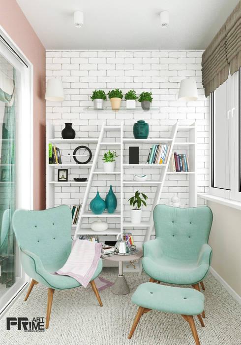 Из двухкомнатной квартиры сделали трехкомнатную и кабинет-гостевая!: Tерраса в . Автор – 'PRimeART'
