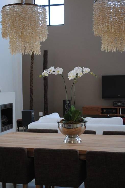 Open plan living space: modern Living room by Salomé Knijnenburg Interiors