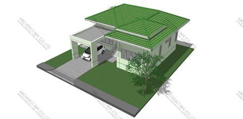 บ้านชั้นเดียวสไตล์ CONTEMPORARY [แบบบ้านฟรี]:   by บริษัท อาร์คิเทค บีเคเค จำกัด