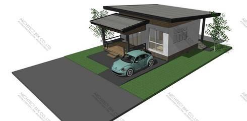 แบบบ้านชั้นเดียว BIGCAN 1 ห้องนอน 1 ห้องน้ำ MO-H1-06101.09:   by บริษัท อาร์คิเทค บีเคเค จำกัด