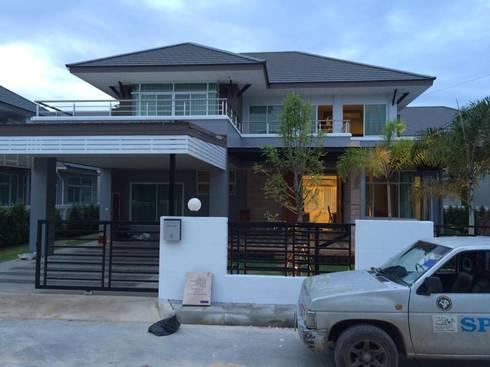 บ้านลูกค้าที่หมู่บ้านฉัตรเพชร ขอนแก่น:   by บรรจง เดคคอร์