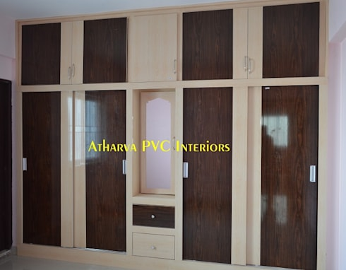 PVC Wardrobes: modern Bedroom by Atharva PVC Interiors