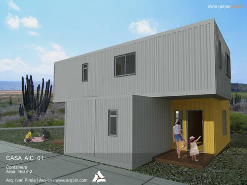 Casa AIC_01: Casas de estilo moderno por Arq+In Arquitectura Integral