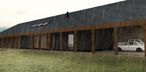 Casa MB: Casas de estilo moderno por Smartlive Studio