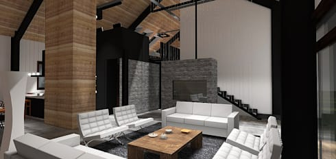 Casa MB: Livings de estilo moderno por Smartlive Studio