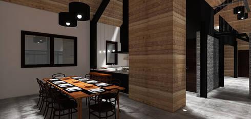 Casa MB: Comedores de estilo moderno por Smartlive Studio