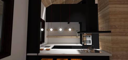Casa MB: Cocinas de estilo moderno por Smartlive Studio