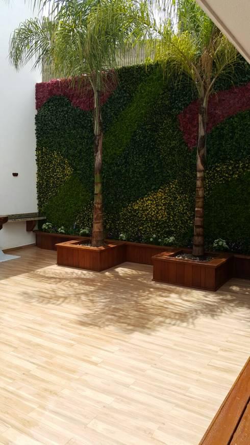Jardín de estilo  por Stann Designs S.A de C.V.