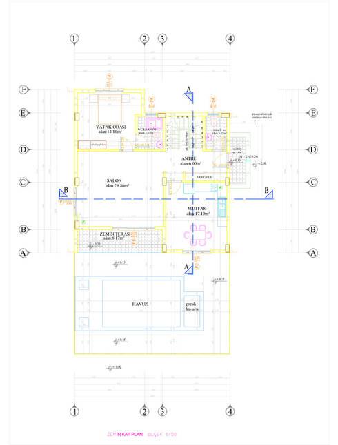 Omc Mimarlık İnşaat  – zemin kat plan:  tarz