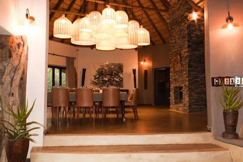 Madikwe Hills Dining Room :  Hotels by Nowadays Interiors