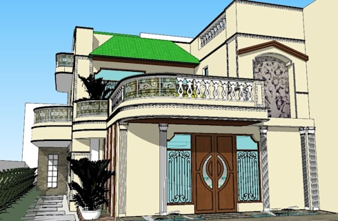 Exterior Elevation:   by Ar. Ananya Agarwal