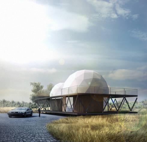 Casa 8: Casas de estilo minimalista por B+V Arquitectos