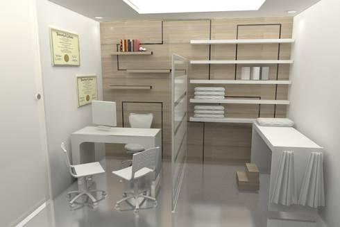 CONSULTORIO : Estudios y despachos de estilo moderno por SIMETRIC ARQUITECTURA INTERIOR