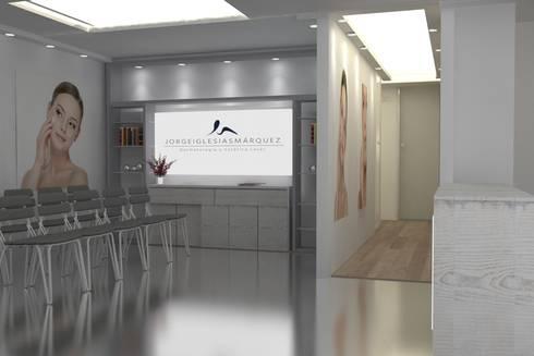 PASILLO: Pasillos y vestíbulos de estilo  por SIMETRIC ARQUITECTURA INTERIOR