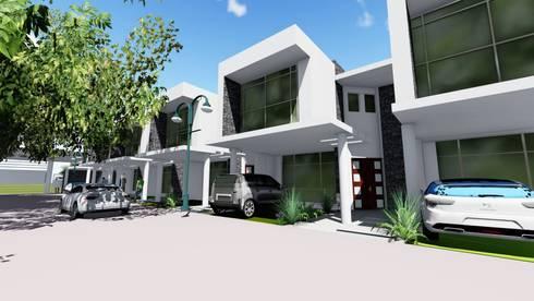 los ALAMOS TOWNHOUSE: Casas de estilo minimalista por medina&asociados