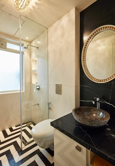 powder bathroom: modern Bathroom by Interface
