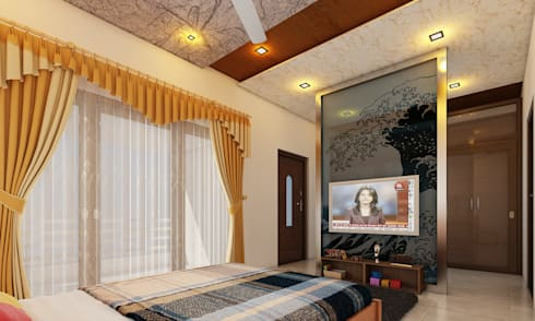 Bedroom tv unit: modern Bedroom by Altitude Interior designer