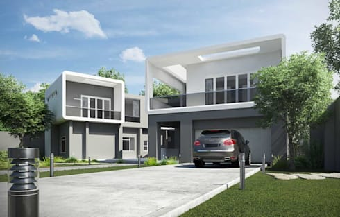 House in Edenvale - Face-lift and aditions: modern Houses by Essar Design