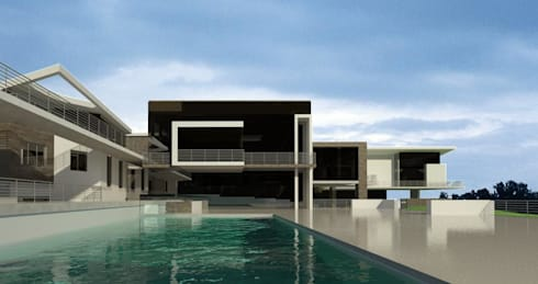 Upmarket house and home office - Bryanston 1: modern Houses by Essar Design