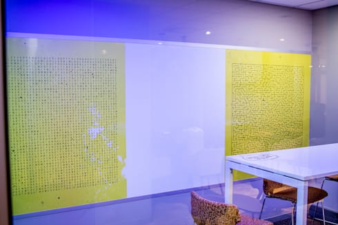 Wonder wall: modern Study/office by Resurface Graphics