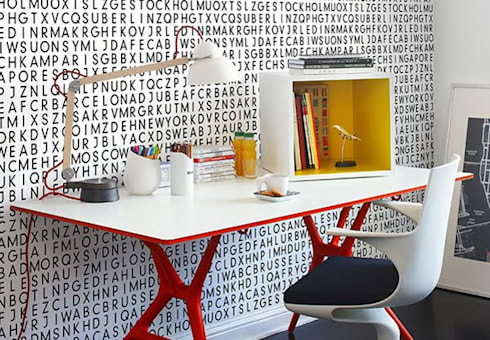 Wallpaper: modern Study/office by Resurface Graphics