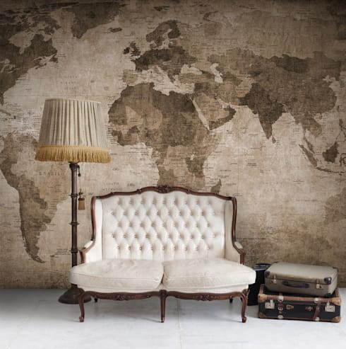 Wallpaper: classic Living room by Resurface Graphics