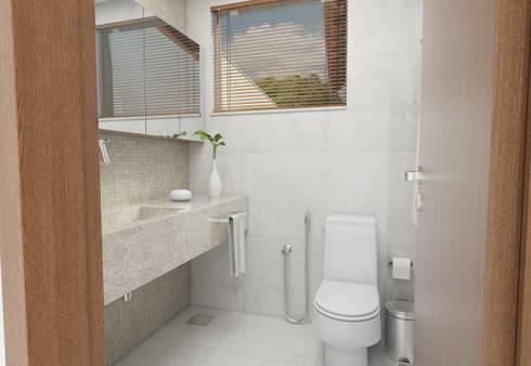 minimalistic Bathroom by Filipe Castro Arquitetura   Design