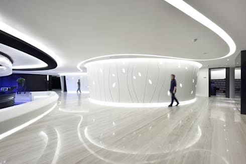 水之境:  商業空間 by 行一建築 _ Yuan Architects