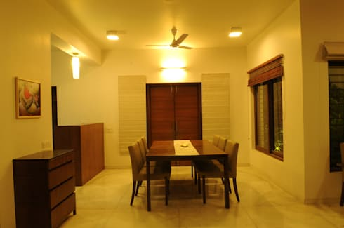 Dr. jigarbhai: modern Dining room by Hightieds