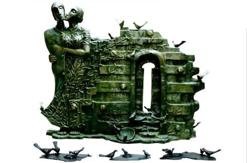 Bird home coming  :  Artwork by Indian Art Ideas