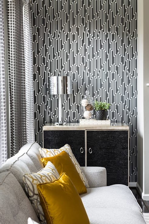 غرفة المعيشة تنفيذ Lorna Gross Interior Design