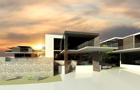 Upmarket house and home office - Bryanston 2: modern Houses by Essar Design