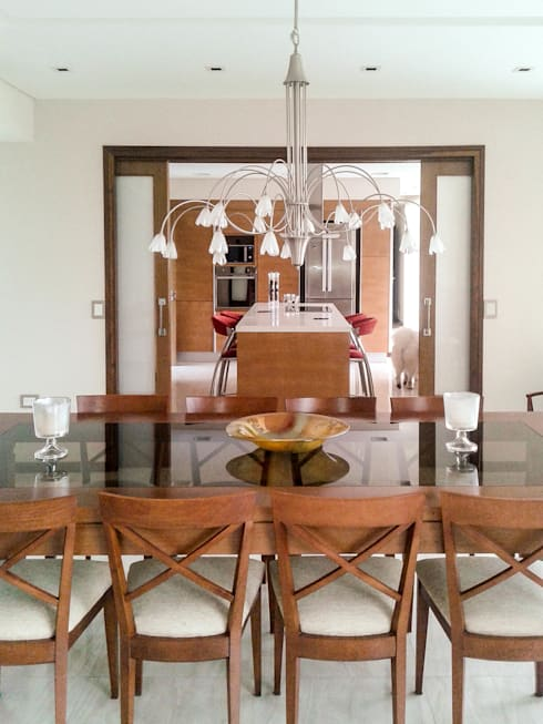 Casa en Rumencó: Comedores de estilo  por id:arq