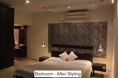 Styling a Bedroom, Nayapalli, Bhubaneswar:   by Schaffen Amenities Private Limited