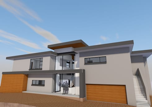Southern arival perspective: modern Houses by Seven Stars Developments