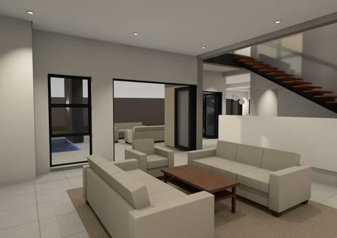 House van Jaarsveld: modern Living room by Seven Stars Developments