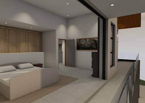 Main Bedroom: modern Bedroom by Seven Stars Developments