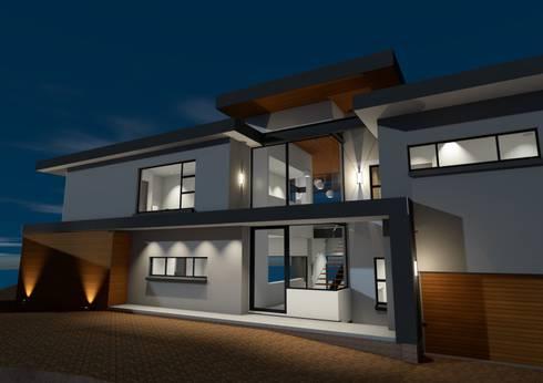 Southern entrance view: modern Houses by Seven Stars Developments