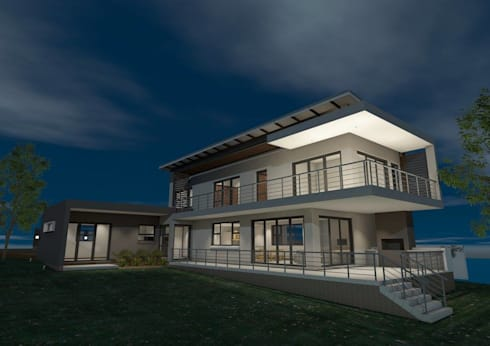 North-western dusk perspective:   by Seven Stars Developments
