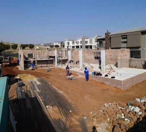 ground floor slab complete:   by Seven Stars Developments