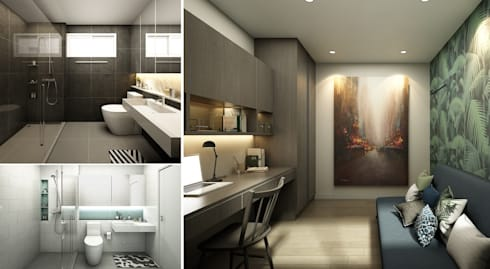 BAAN KANGMUANG| TOWNHOUSE:   by Apluscon Architects Ltd