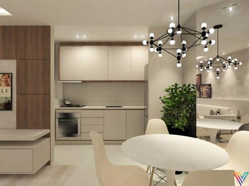 modern kitchen by vitral studio arquitetura - Living Moderno