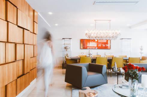 APTO GA: Salas/Recibidores de estilo moderno por JAVC ARQUITECTOS S.C