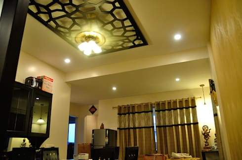 3BHK Royal Heritage, Bhubaneswar: modern Living room by Schaffen Amenities Private Limited