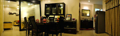3BHK Royal Heritage, Bhubaneswar: modern Dining room by Schaffen Amenities Private Limited