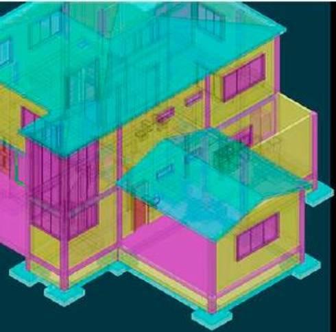 Casa Barreto:  de estilo  por TECNICAD ARQUITECTURA