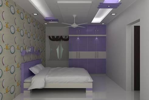 splendid interiors bedroom designs:   by Splendid Interior & Designers Pvt.Ltd