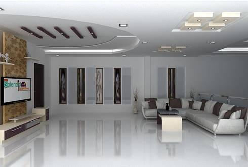 splendid interiors hall designs:   by Splendid Interior & Designers Pvt.Ltd