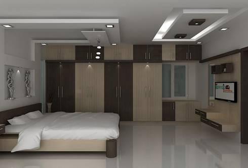 splendid bedroom:   by Splendid Interior & Designers Pvt.Ltd