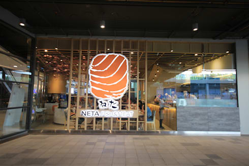 Neta fish and meat @ the jas srinakarin:  ตกแต่งภายใน by  good space  plus interiror- architect co.,ltd